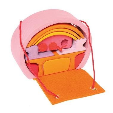 Grimm's, Mobilny dom różowo-pomarańczowy, 3+