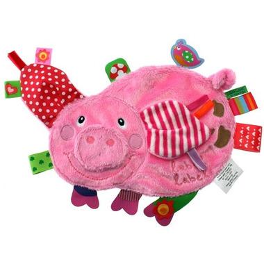 Przytulanka kocyk z metkami Label Label - świnka