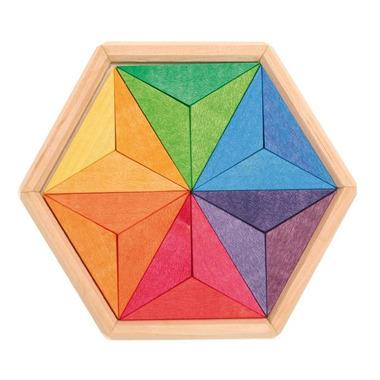 Grimm's, Drewniane puzzle do układania gwiazdy 3+