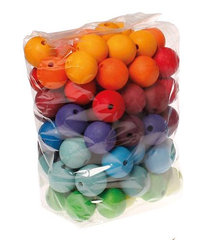 Grimm's, 96 kolorowych korali, 30 mm, 3+