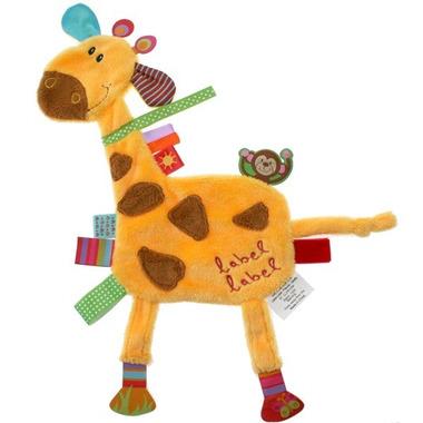 Przytulanka kocyk z metkami Label Label - Żyrafa