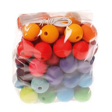 Grimm's, 60 kolorowych koralików, 20 mm, 3+