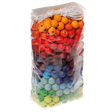 Grimm's, 480 kolorowych koralików, 12 mm, 3+