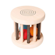 Grimm's, Mini rolka z kulkami, kolekcja naturalna, 1+