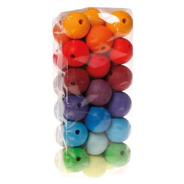 Grimm's, 36 kolorowych korali, średnica 30 mm, 3+