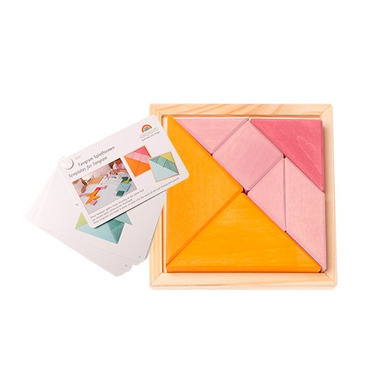 Grimm's, Tangram w kolorze pomarańczowo-różowym, z oryginalną książeczką 3+