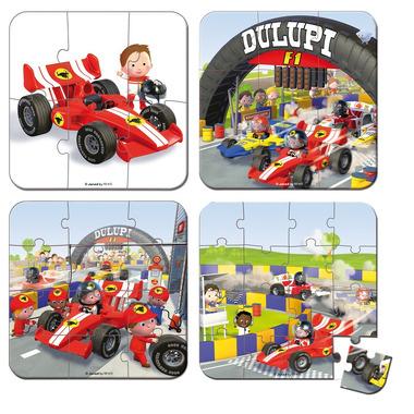 Janod, puzzle Wyścigi 6 9 12 i 16 elementów