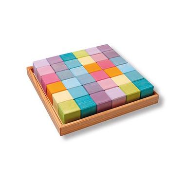 Grimm's, Kwadrat z 36 pastelowymi kostkami 1+