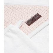 Bamboom, Ręcznik z Kapturkiem + Myjka 100% Bambus Organiczny Biały&Różowy