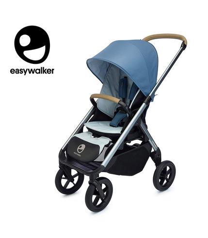 Easywalker, Mosey+ Wózek głęboko-spacerowy Steel Blue (zawiera stelaż, siedzisko z budką i pałąkiem)