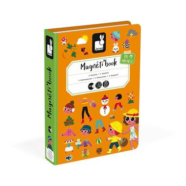 Janod, Magnetyczna układanka 4 pory roku Magnetibook kolekcja 2018