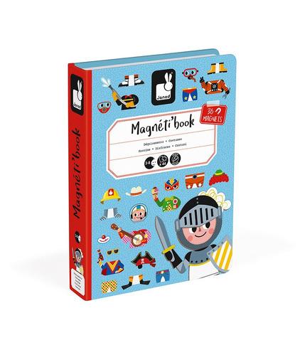 Janod, Magnetyczna układanka Kostiumy Chłopiec Magnetibook kolekcja 2018
