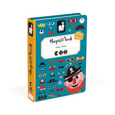 Janod, Magnetyczna układanka Śmieszne buzie Chłopiec Magnetibook kolekcja 2018