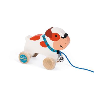 Janod, Piesek drewniany do ciągnięcia Bulldog