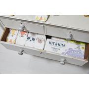 Kit and Kin, Biodegradowalne Pieluszki Jednorazowe Panda Junior (15kg +), Mix Wzorów, 30 szt.