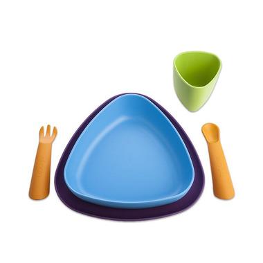 eKoala, Zestaw Obiadowy dla Dzieci 100% BIOplastik Fioletowy&Niebieski