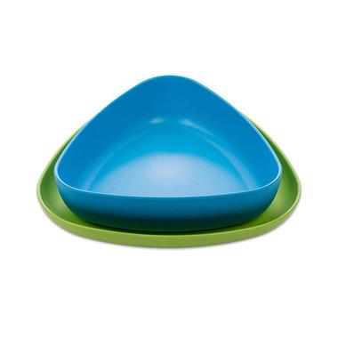 eKoala, Zestaw Miseczka i Talerzyk 100% BIOplastik Niebieski&Zielony