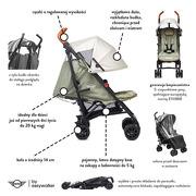 Easywalker, MINI by Easywalker Buggy+ Wózek spacerowy z osłonką przeciwdeszczową Greenland