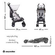 Easywalker, Buggy+ Wózek spacerowy z osłonką przeciwdeszczową Silver Circle