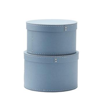 Kids Concept, Pudełka Kartonowe Okrągłe 2 szt Blue