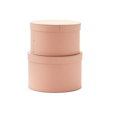Kids Concept, Pudełka Kartonowe Okrągłe 2 szt Pink