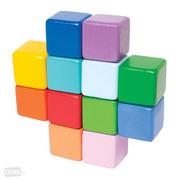 Manhattan Toy, Kolorowy drewniany gryzak kostki