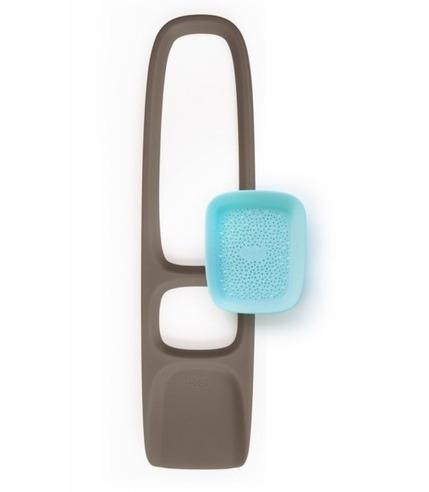 Quut, Scoppi Łopatka z sitkiem Bungee Grey + Vintage Blue