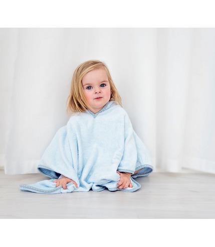 LULLALOVE, Pastelowe ponczo dla aktywnych dzieci - błękit