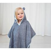 LULLALOVE, Pastelowe ponczo dla aktywnych dzieci - szare