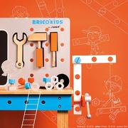 Janod, Stolik warsztatowy z 40 akcesoriami duży Brico 'Kids kolekcja 2018