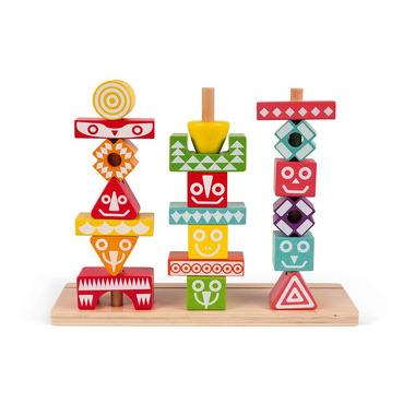 Janod, Układanka drewniana piramida Totemy