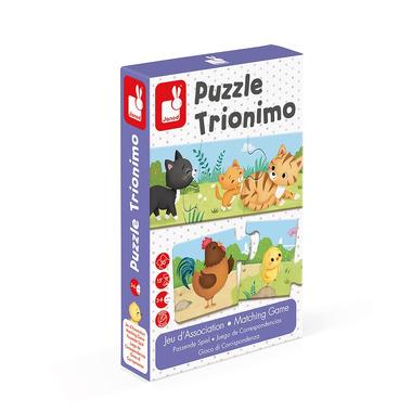 Janod, Trzyczęściowe puzzle Zwierzęta i ich dzieci 30 elementów