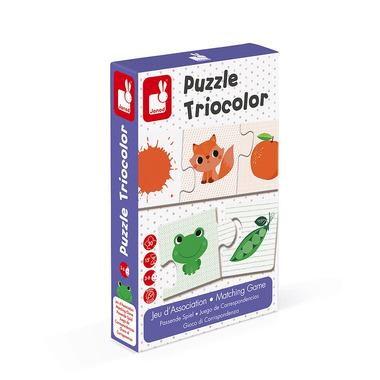 Janod, Trzyczęściowe puzzle Kolory 30 elementów