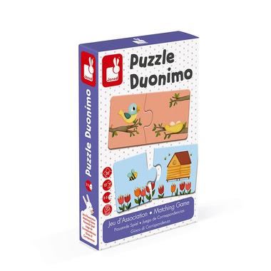 Janod, Dwuczęściowe puzzle Zwierzęta i ich domki 20 elementów