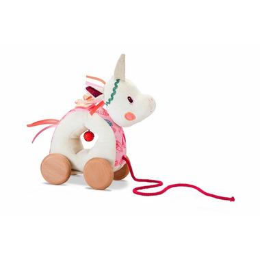 Lilliputiens, Zabawka do ciągnięcia na sznurku Jednorożec Louise