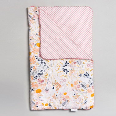 Bimbla, Kołderka niemowlęca Pastel Meadow 75 x 95 cm