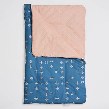 Bimbla, Kołderka niemowlęca Orange Blue 75 x 95 cm