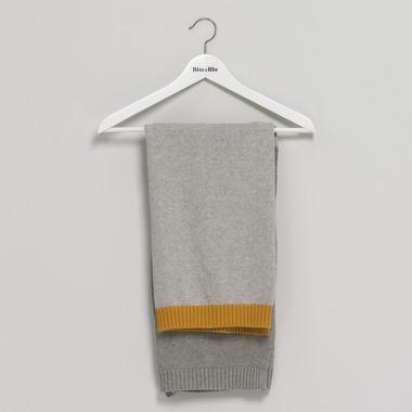Bimbla, Kocyk So Gray Musztardowy 75 x 90 cm