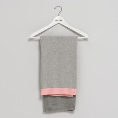 Bimbla, Kocyk So Gray Jasny Różowy 75 x 90 cm