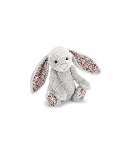 Jellycat , szary króliczek z uszami w kwiatki 31
