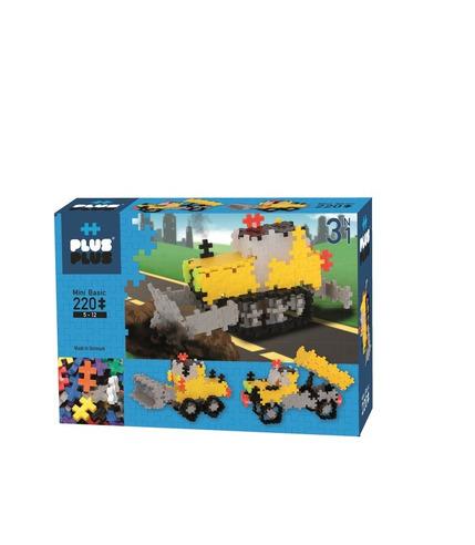 Plus-Plus, Mini Basic - 220 szt. 3w1 Pojazdy budowlane