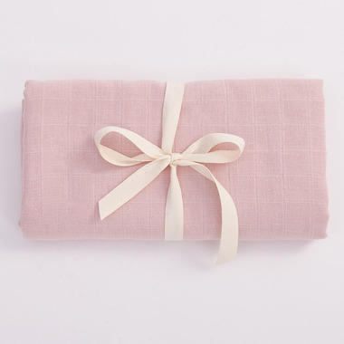 Bimbla, Muślinowy otulacz z bawełny organicznej - jasno różowy