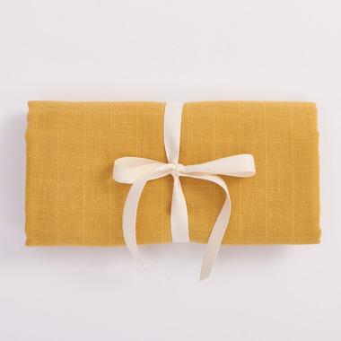 Bimbla, Muślinowy otulacz z bawełny organicznej - musztardowy