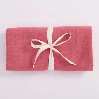 Bimbla, Muślinowy otulacz z bawełny organicznej - różowy