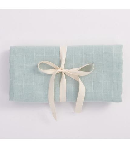 Bimbla, Muślinowy otulacz z bawełny organicznej - miętowy