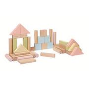 Plan Toys, Pastelowe klocki drewniane 40 szt.