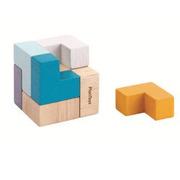 Plan Toys, Mini Puzzle w Metalowym pudełku - Sześcian