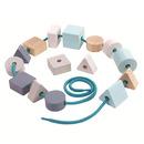 Plan Toys, Pastelowa nawlekanka z klocków