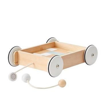 Kids Concept, Neo Wózek Drewniany z Klockam