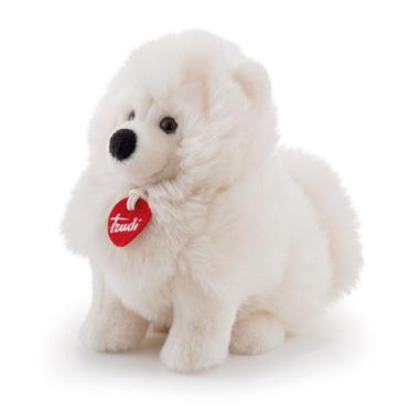 Trudi, Pluszowy biały piesek Samoyed Fluffies